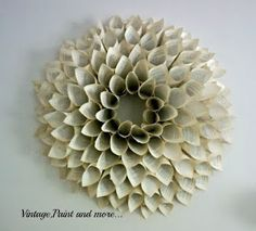 Book Page Wreath Tutorial - large book page wreath