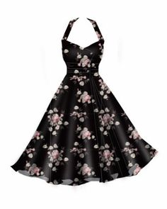 pink,rockabilly,retro,vintage,plussizedress,retrodress,rockabillydress,rockabella,blackfloral.jpg 400×500 pixels