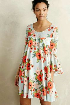 How cool this shape of the flowery dress..
