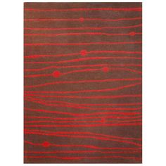 <br> <li>Bold contemporary style and fine craftsmanship update your home or office decor <li>Hand-tufted of 100-percent New Zealand wool pile <li>Modern stripes motif in dark brown and red