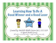 SPEECH ROCKS ~ MARCH MADNESS ~ WEEK 2 FREEBIELearning how to be a good winner and a good loser can be a very difficult skill to teach, especially for children with special needs.  Theres no better way to teach these skills than in a safe environment when the child knows what to expect.