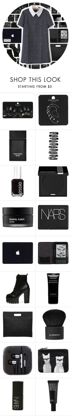 """""""Romwe 6"""" by scarlett-morwenna ❤ liked on Polyvore featuring Topshop, Tom Ford, Essie, MAKE UP FOR EVER, Koh Gen Do, BOBBY, NARS Cosmetics, Cole Haan, Givenchy and CO"""