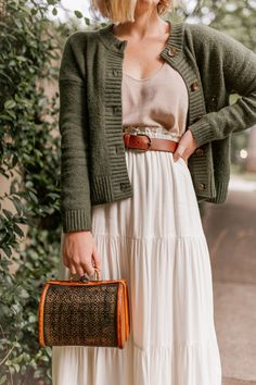 green pieces to shop for fall | green cardigan sweater #fallfashion #fallstyle #sweater #green #cardigansweater #femininestyle #cozystyle