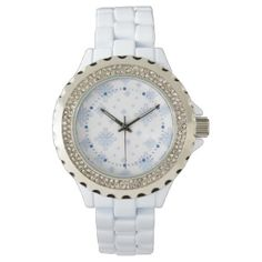 Snowflakes Wrist Watch -nature diy customize sprecial design