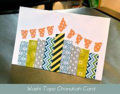 Make it Snazzy: Washi Wednesday: Chanukah Card