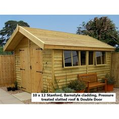 20 x 10 garden shed with greenhouse attached info