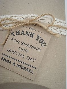 16 Vintage/Rustic/ Shabby Chic 'Thank you for by TheVowSheffield