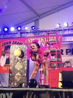 Sword Swallowing at Pima Fair AZ Gigi DeLuxe