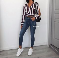 outfits ideas to 2019 casual fashion springs summer outfits and womens fashion trendy outfits Stylish Summer Outfits, Spring Outfits, Casual Outfits, Fashion Mode, Look Fashion, Mode Outfits, Fashion Outfits, Denim Outfit, College Outfits