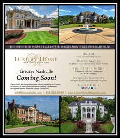 It's almost here! The Music City has one of the most vibrant luxury real estate markets in the country and we are so excited to be a part of it!
