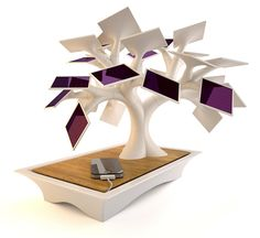 Solar Powered Contemporary Tree Charger