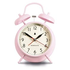 Newgate New Covent Garden Clock - Dreamy Pink (€28) ❤ liked on Polyvore featuring home, home decor, clocks, fillers, decor, fillers pink, battery operated alarm clock, newgate, bell alarm clock and pink flamingo home decor