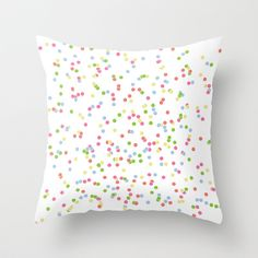 Confetti Throw Pillow by Nicole Davis - $20.00