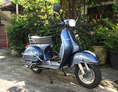 1978 Vespa P150X MK1 after a full restoration