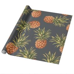 Tropical Pineapple Pattern Wrapping Paper Jan 19 2017 #junkydotcom #zazzle