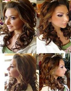 Wedding Hair Down with Tiara | Bridal hair down with tiara pictures 3