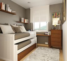 25 Cool Bed Ideas For Small Rooms | Room, Bedrooms and Bedroom windows