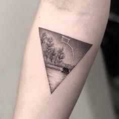Dotwork scene by Zeke (@zeke_chronicink) done at Chronic Ink Tattoo - Toronto, Canada