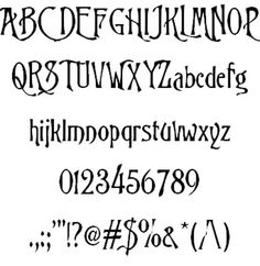 Trinigan fg font - Nightmare before Christmas font