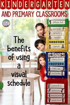 The benefits of a using a visual schedule in kindergarten and early primary classrooms #kindergarten #primary #visualschedule #classroommanagement #thatfunreadingteacher