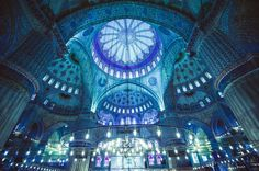 Sultanahmet Camii is a historical mosque in Istanbul. It is known as the Blue Mosque because of blue tiles on the interior walls. It was built between 1609 and 1616 years, during the rule of Ahmed I