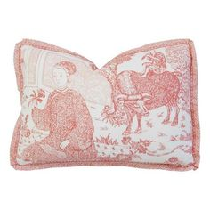 Image of Brunschwig & Fils Chinoiserie Toile Pillow