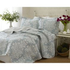 Laura Ashley Rowland 3-piece Quilt Set | Overstock.com Shopping - The Best Deals…