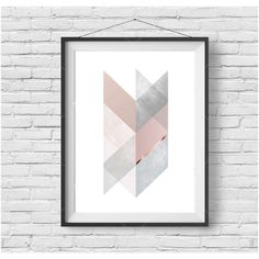 Chevron Print Chevron Art Scandinavian Print Scandinavian Poster... (£3.82) ❤ liked on Polyvore featuring home, home decor, wall art, grey home decor, pink flamingo wall art, pink wall art, pink poster and chevron wall art