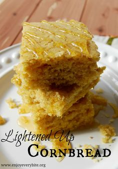 Melt-in-your-mouth cornbread made with whole wheat flour and 1/3 less sugar! @abrahamson2375