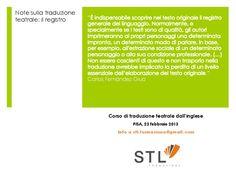 Note sulla traduzione teatrale - Il registro del linguaggio