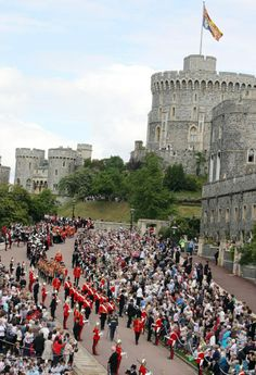 The Order of the Garter Ceremony today at Windsor Castle. June 16, 2014.
