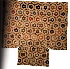 Hexagon Flowers, 1830-1835, cotton and glazed chinz, Shelburne Museum