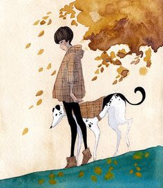 Greyhound Art ~ by Renee Nault~