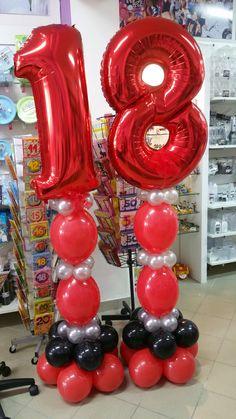 18° compleanno in rosso e nero