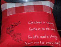 Christmas Countdown, Christmas Elf, Holiday, Reading Pillow, Santa Sleigh, Advent, Verses, Special Occasion, Cheer