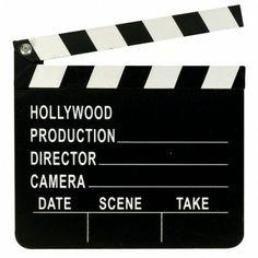 Filmklappe - Deko für Eure Hollywood Party