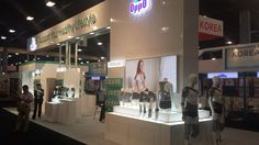 Great looking booth, using a single sided LED light box, using our own Light Tex dye sub material.