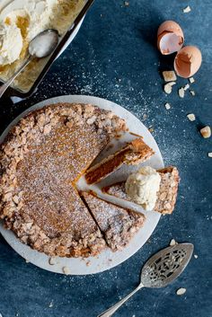 Carrot, Ginger & White Chocolate Tart with Whisky Ginger Ice Cream | The Brick Kitchen