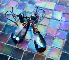 AURORA Long Bermuda Blue Aurora Borealis by MichaelaSagatovaArt, $45.00
