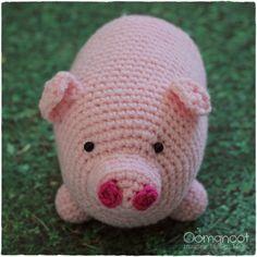 This Little Piggy Crochet Amigurumi | Oomanoot #free #crochet #tutorial #amigurumi #pink #piggy #pig