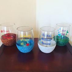Disney Inspired Wine Glasses Set of Four