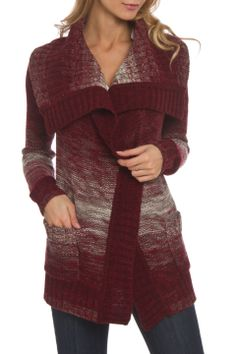 RD Style Ombre Marled Cardigan in Port Royal - Beyond the Rack #beyondtherack