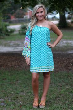 Just Having Fun Dress: Jade - Off the Racks Boutique