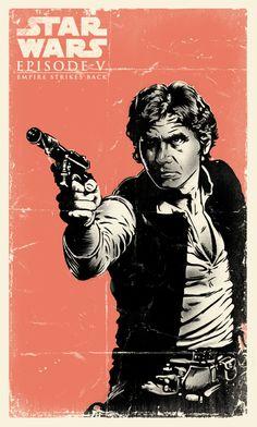 Star Wars by Daniel Hatcher, via Behance