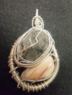 Tourmalated Quartz / Pink Opal --- #1 Pink Opal, Landline Phone, Quartz, Jewelry, Jewlery, Jewerly, Schmuck, Jewels, Jewelery