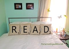 Set of 4 SCRABBLE LETTER decorative pillow cases cushion covers -- READ or choose any 4 letters from PersonalizedWorld on Etsy. Saved to My Home. Scrabble Letras, Scrabble Tiles, Cushion Covers, Pillow Covers, Decorative Pillow Cases, Black Letter, Bed Pillows, Toss Pillows, Scrappy Quilts