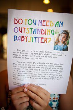 I love the text on this flyer: teach, clean, safe!