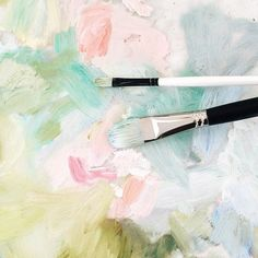 painting in pastels, spring colors, abstract art from @emily_jeffords