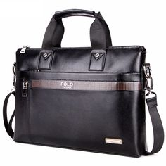 Cheap bolsa masculina, Buy Quality mens laptop bag directly from China brand shoulder bag Suppliers: VICUNA POLO Business Solid Color Men Briefcases Luxury Brand Mens Laptop Bag Fashion Large Male Shoulder Bags bolsa masculina Business Briefcase, Briefcase For Men, Leather Briefcase, Handbags For Men, Fashion Handbags, Leather Handbags, Fashion Bags, Black Leather Shoes, Leather Men