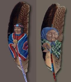 Top 5 Amazing Paintings on Feathers   Most Beautiful Pages